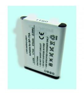 Batería para cámara Samsung BP70A 670mah